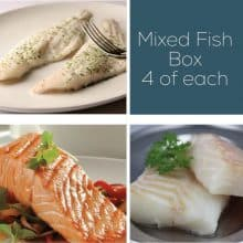 Cod, Salmon & Haddock Fish Box – 12 portions