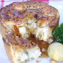 Chicken, Ham & Leek Pie - 4 portions