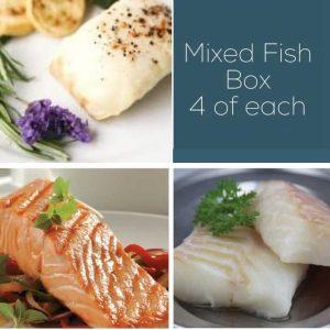 Buy Cod, Salmon & Haddock Fish Box - 12 portions online