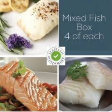 Cod, Salmon & Haddock Fish Box - 12 portions