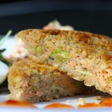 Salmon & Broccoli Crispbake (Shanties) - 6
