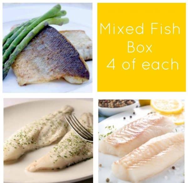 Buy Cod, Seabass & Haddock Fish Box -12 portions online