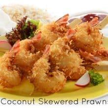 Skewered Coconut Prawns