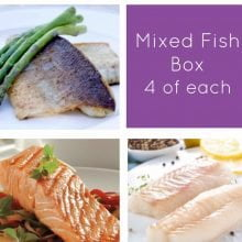 Cod, Seabass & Salmon Fish Box -12 portions