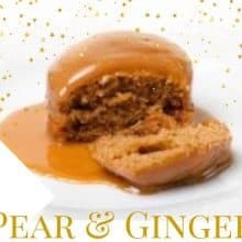 🎄Pear & Ginger Sponge Puddings 4