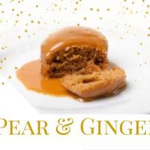 Pear & Ginger Sponge Puddings 4