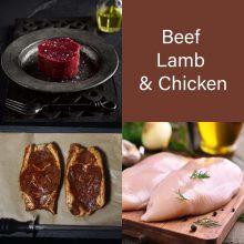 Beef, Chicken & Lamb - 12 ptns